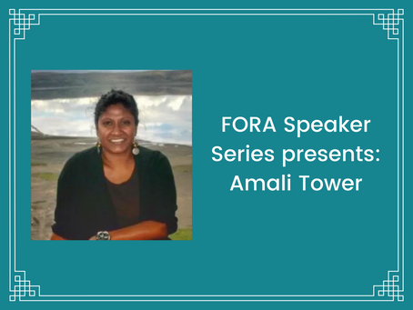 FORA hosts Amali Tower, Director of Climate Refugees