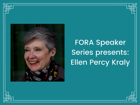 FORA hosts Ellen Percy Kraly