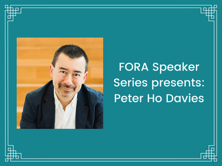 FORA hosts award-winning author Peter Ho Davies