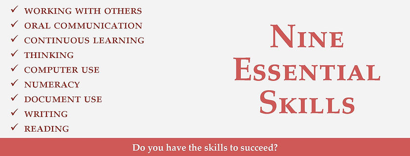 Nine essential skills for learning, work, and life