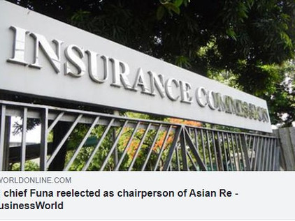 IC chief Funa reelected as chairperson of Asian Re - BusinessWorld