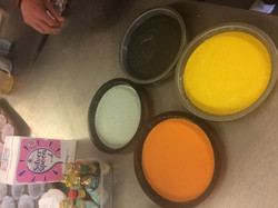 Raibow Cake in the making!