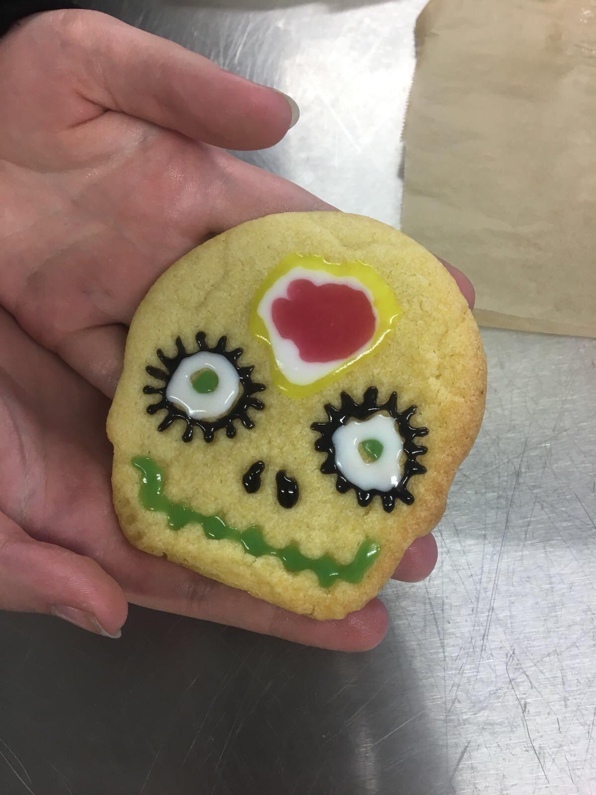 Halloween biscuit