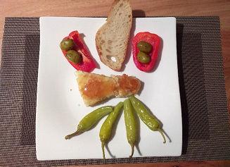 Kochrezept Panierter Schafskäse mit Honi