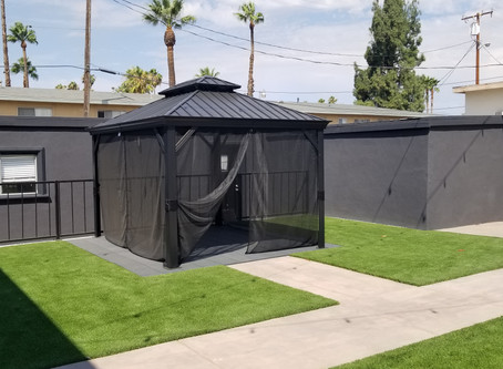 When it's hot out - build a gazebo and relax