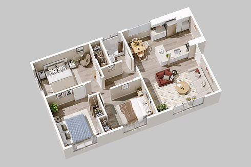 240 Spring Street Paso Robles_Unit 3_3d