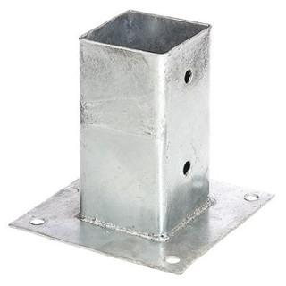 Poste con base para anclaje a radier  |  Galvanizado