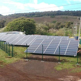 Parque fotovoltaico - Isla de Pascua