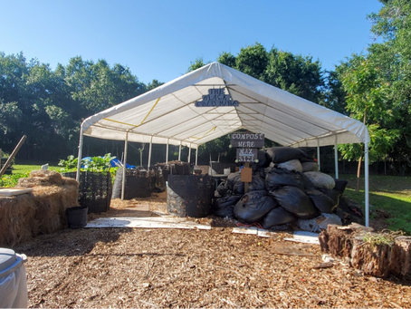 VISTA Gardens Compost Tent...Where Waste Becomes Garden Food!