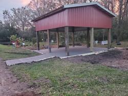 Concrete slab installed February 18, 202