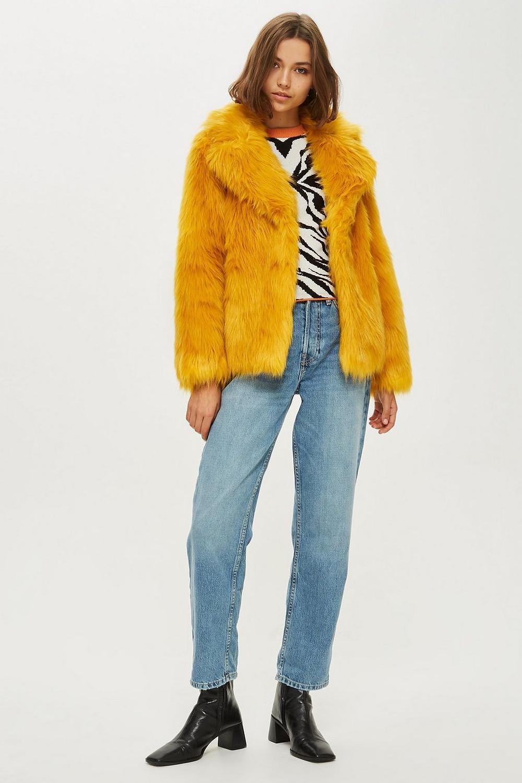 Topshop Faux Fur Coat $150