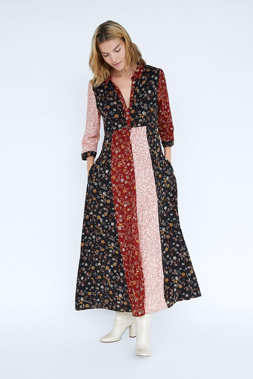 Zara Patchwork Print Dress $35.99