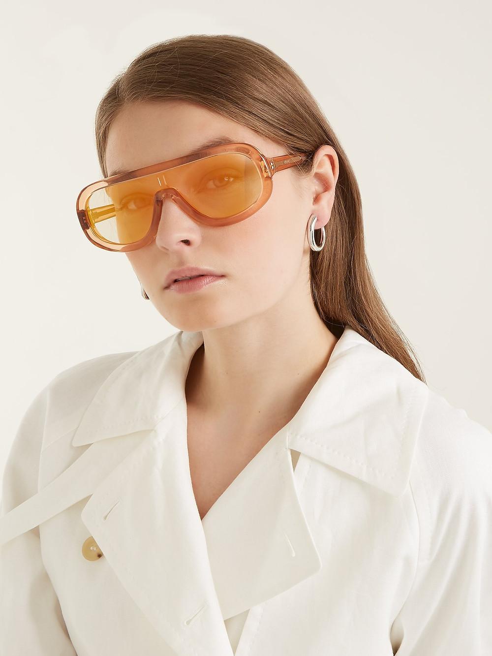 Celine Eyewear Mask acetate sunglasses $500