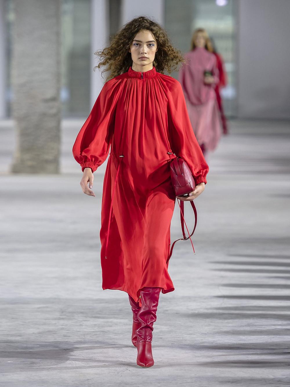 Tibi Drawstring-waist georgette dress $795