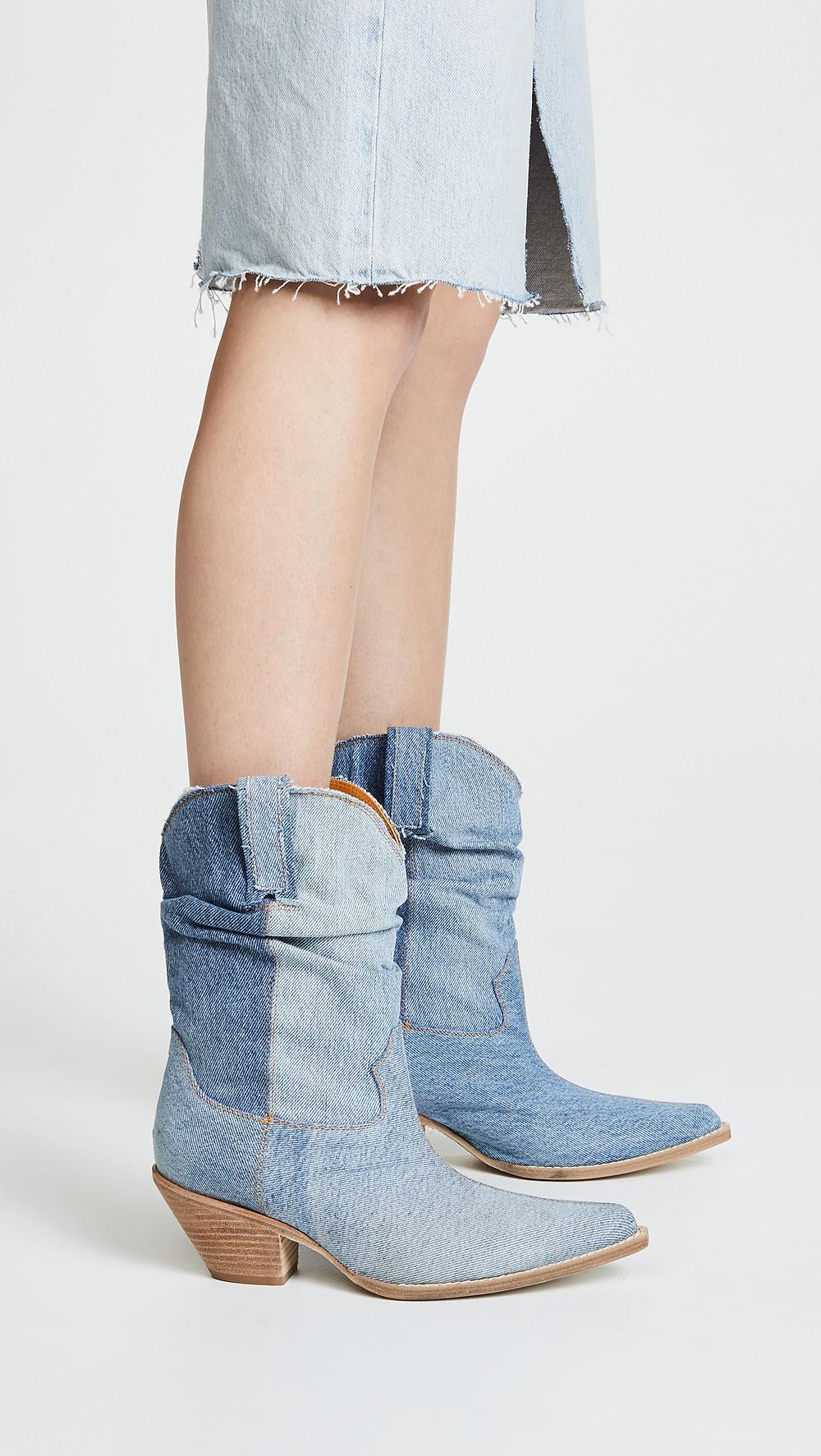 R13 Low Crunch Cowboy Boots $915