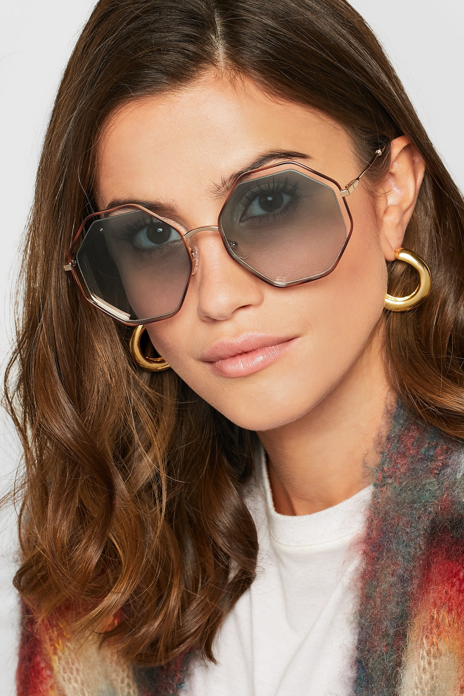 Chloe Poppy octagon-frame acetate and gold-tone sunglasses $395