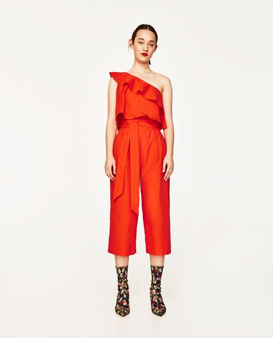 Zara frilled jumpsuit $49.90