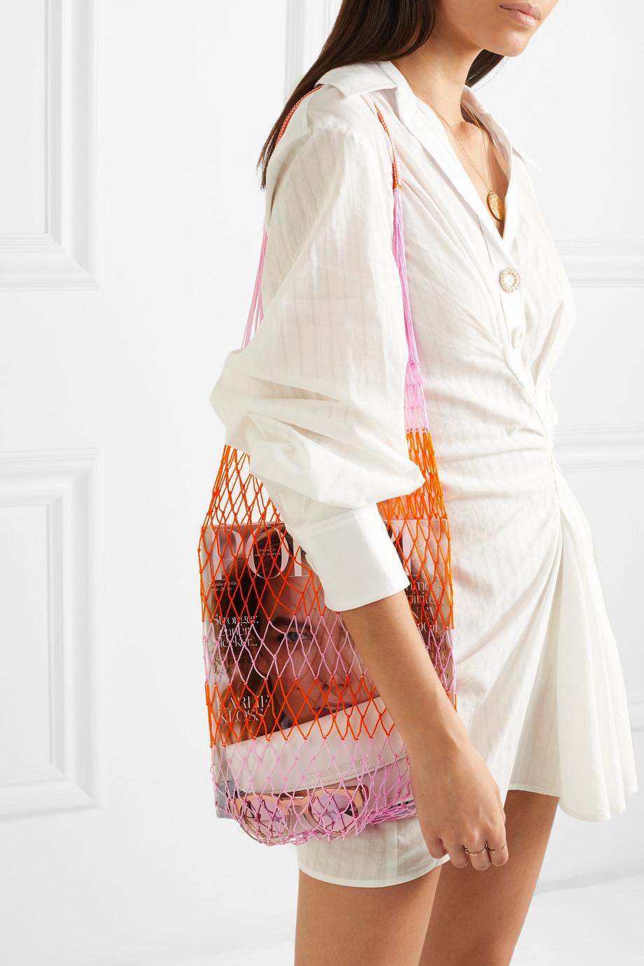 Sophie Anderson Striped macramé shoulder bag $255