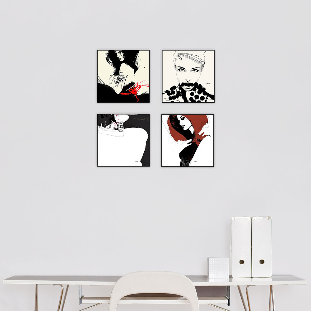 Manuel Rebollo 2 Series Set of 4 $99 at Eyes on Walls-Check out more artwork from Eyes on Walls