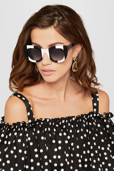 Alice + Olivia Delancey cat-eye acetate sunglasses $375