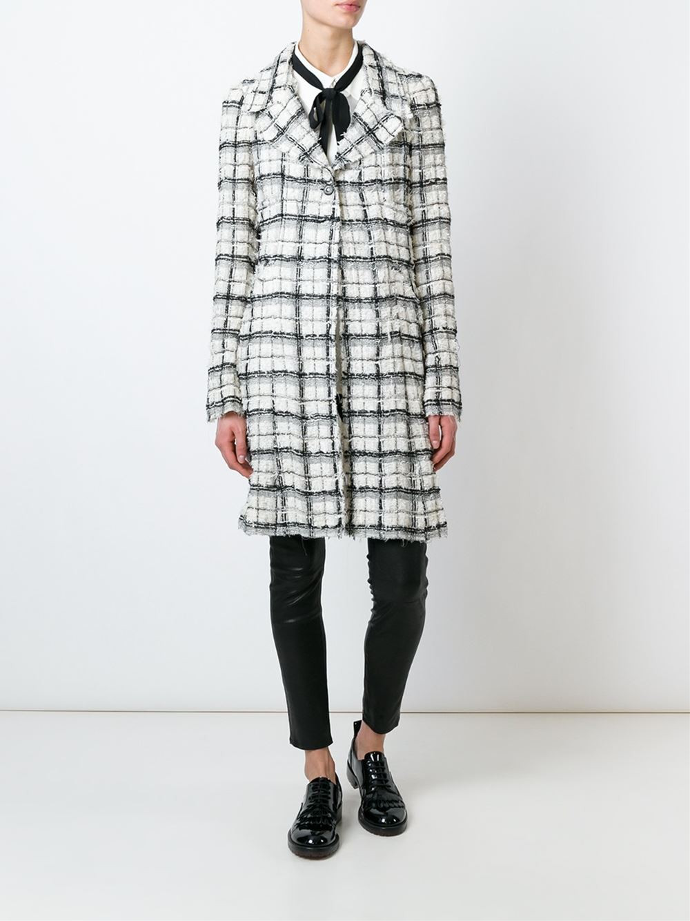 Chanel Vintage Checked Coat $5,631.83