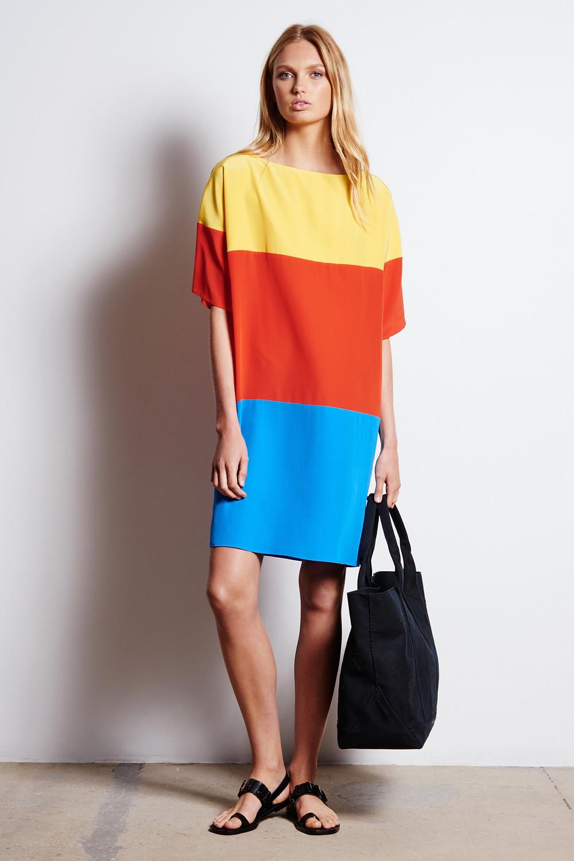 Tomas Maier rainbow style dress $890