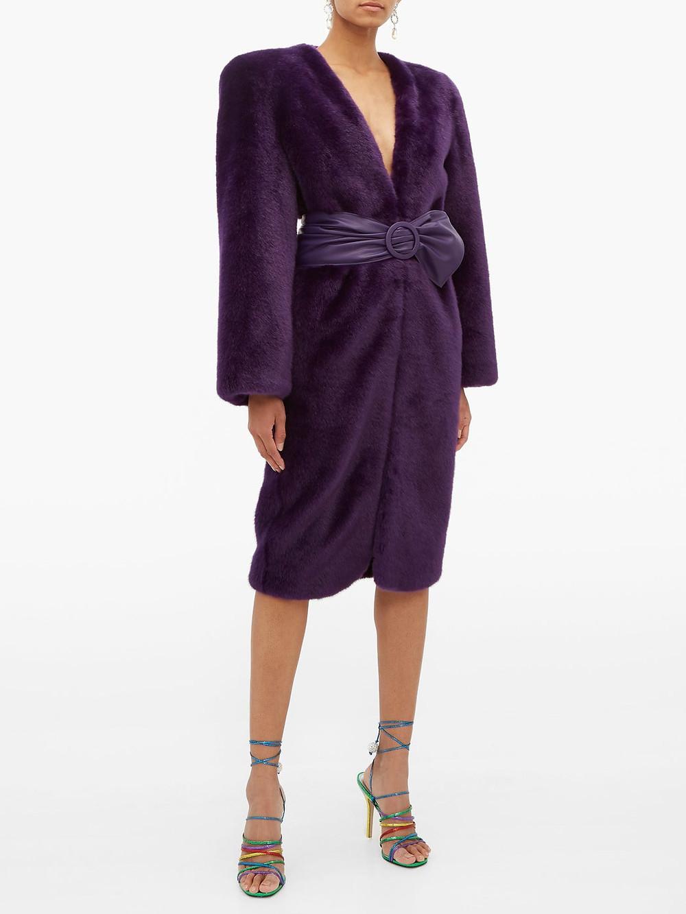 The Attico Exaggerated-shoulder faux-fur coat $2.502