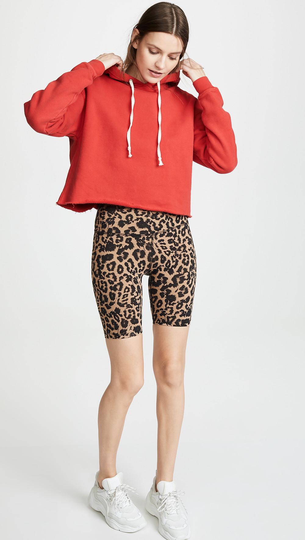 LNA Leopard Bike Shorts $80