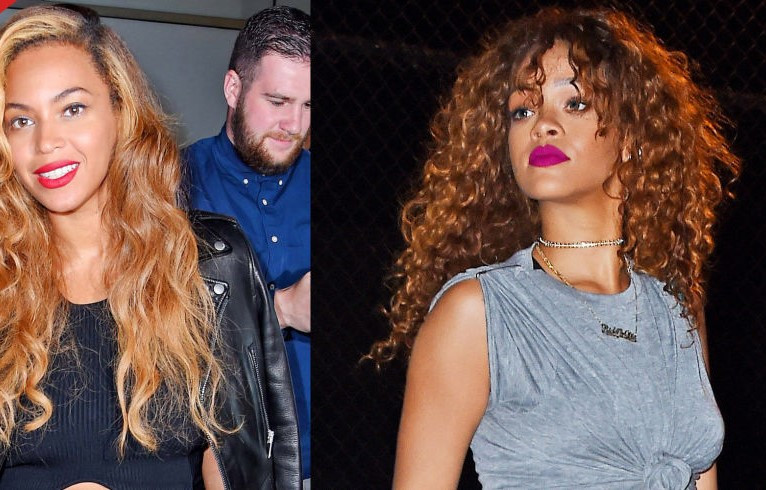 Beyonce & Rihanna rocking the curly hair trend (Shop products to get a curly do)