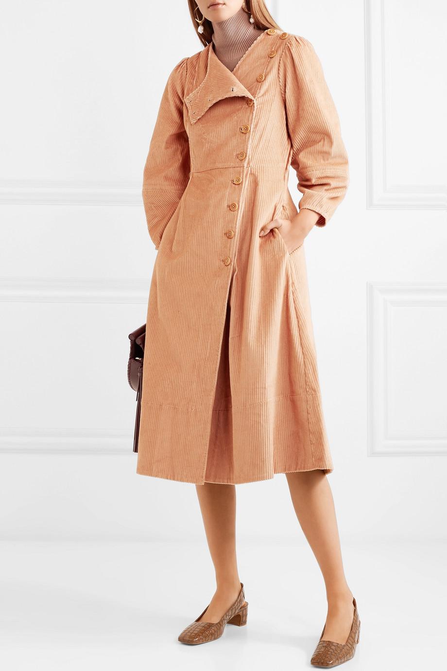 Ulla Johnson Rowan cotton-corduroy midi dress $495