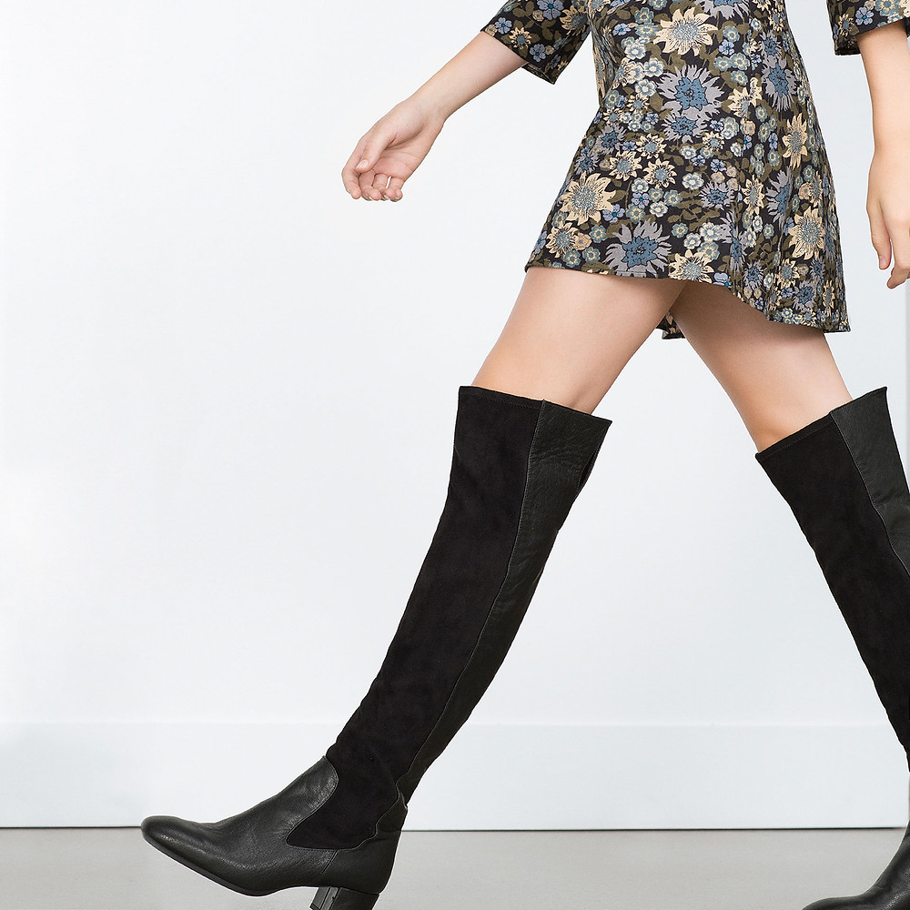 Zara leather boots $179