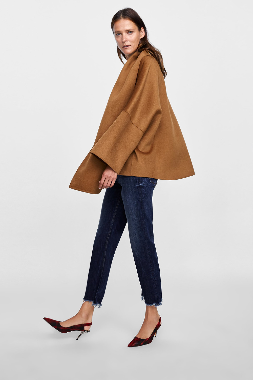 Zara Cape Coat with Scarf $169