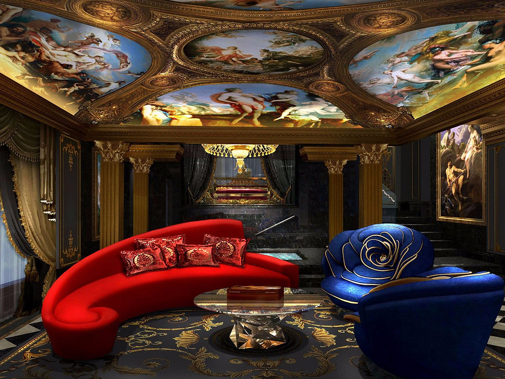 The 13 Hotel in Macau - this is said to be the most expensive hotel in the world -look at the beautiful artwork