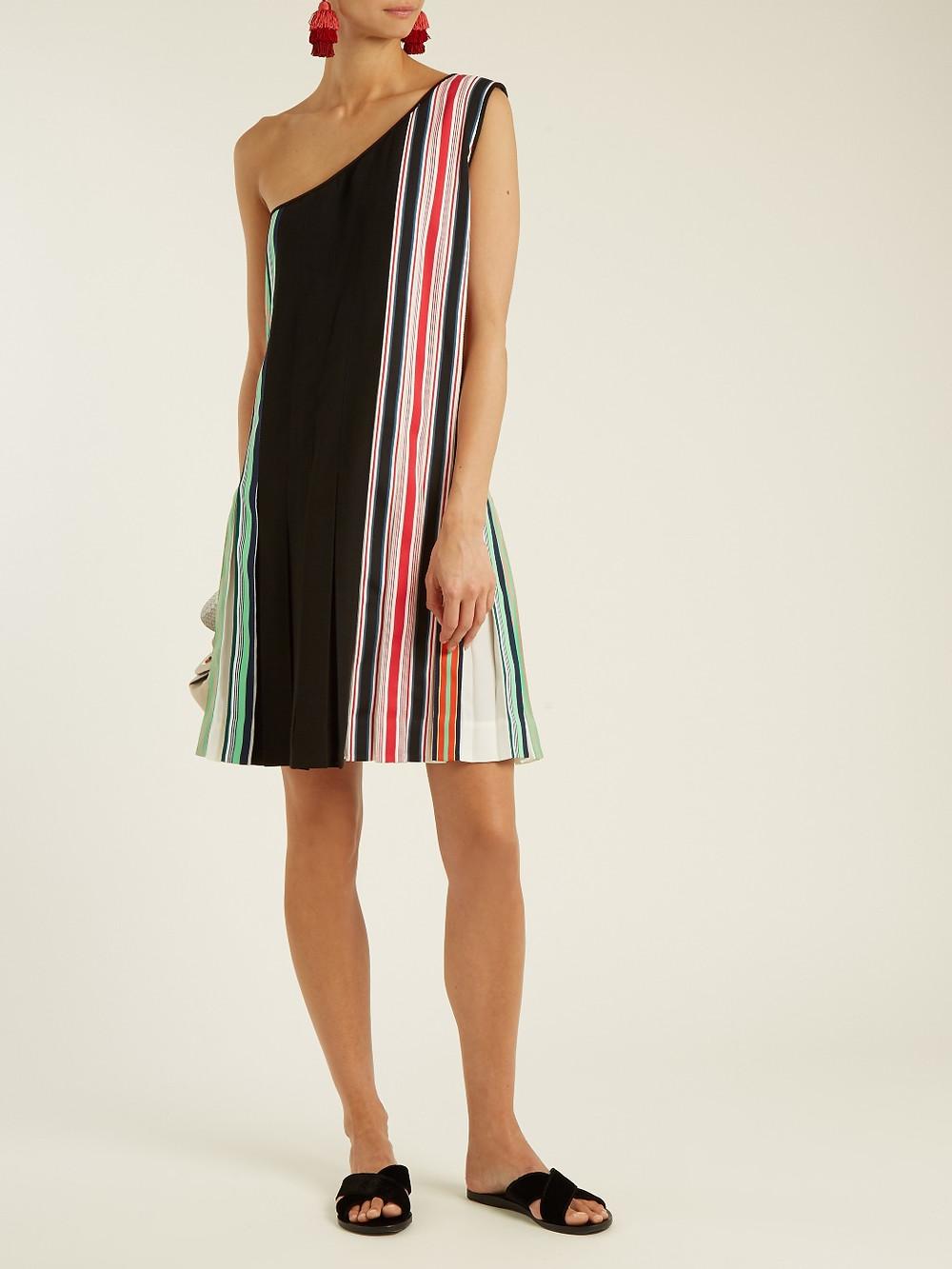 Diane Von Furstenberg  One-shoulder pleated dress $572