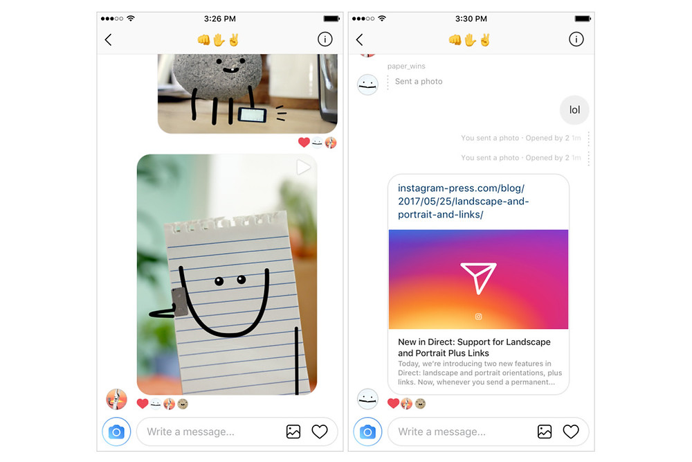 Instagram is just now offering support for sending links in direct messages - Read More from The Verge