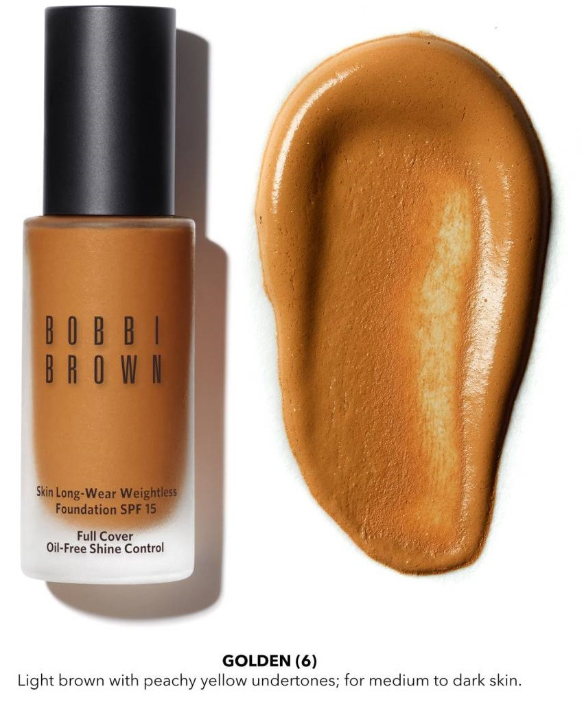 Bobbi Brown Skin Long-Wear Weightless Foundation SPF 15 $46 - comes in 23 shades