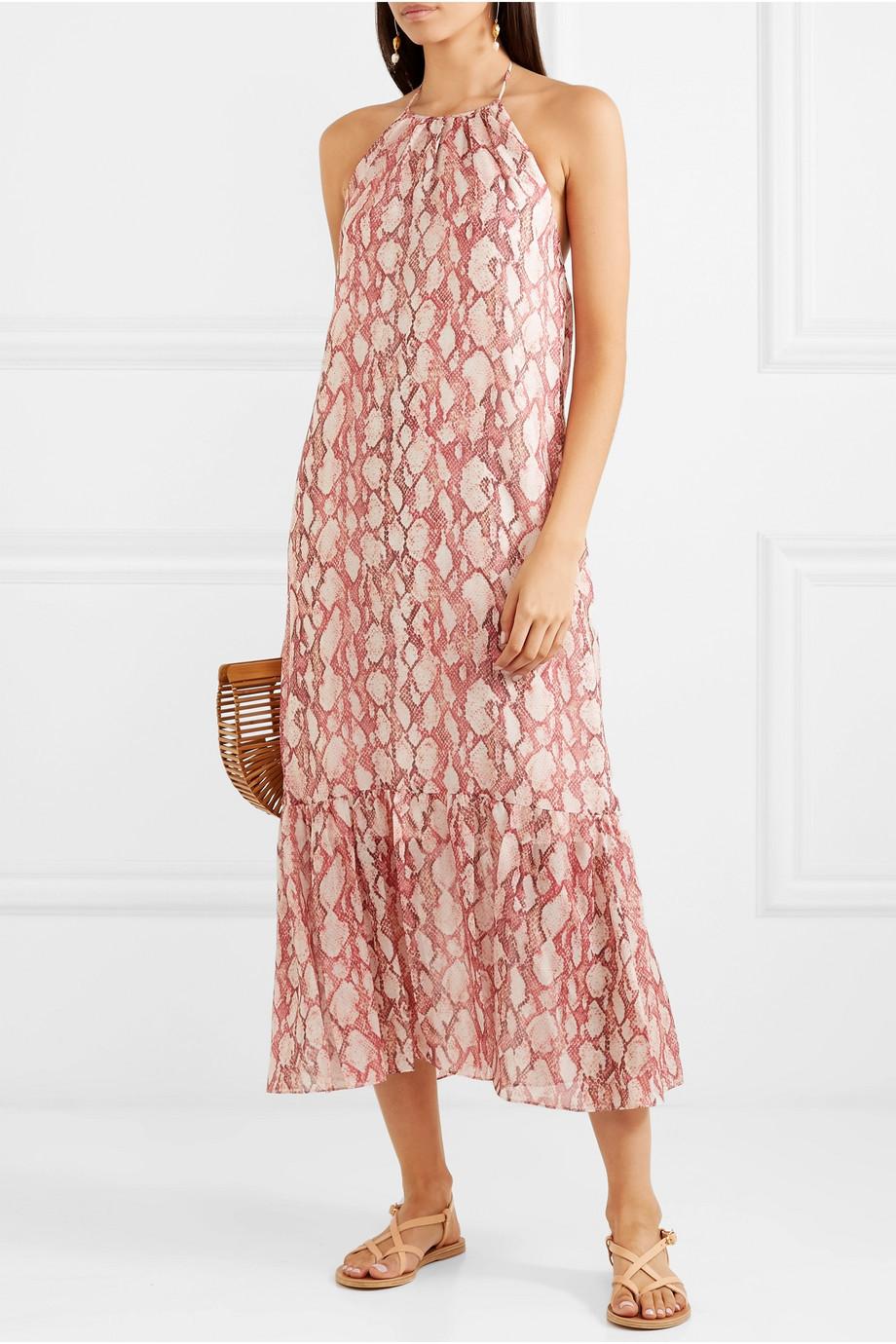 Rachel Zoe Harriet snake-print silk-chiffon dress $425