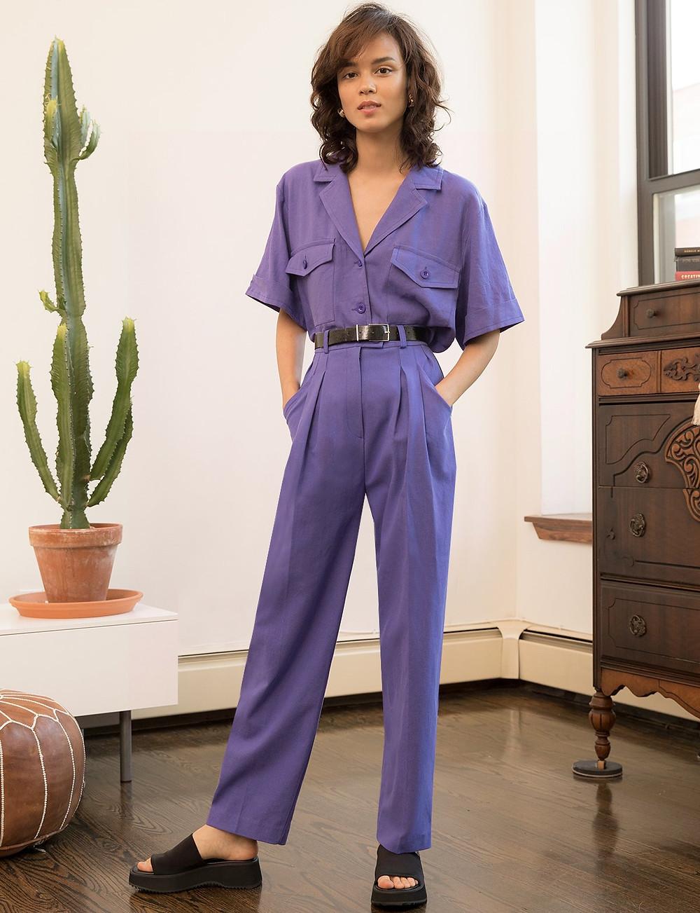 Pixie Market Purple Utility Shirt $95