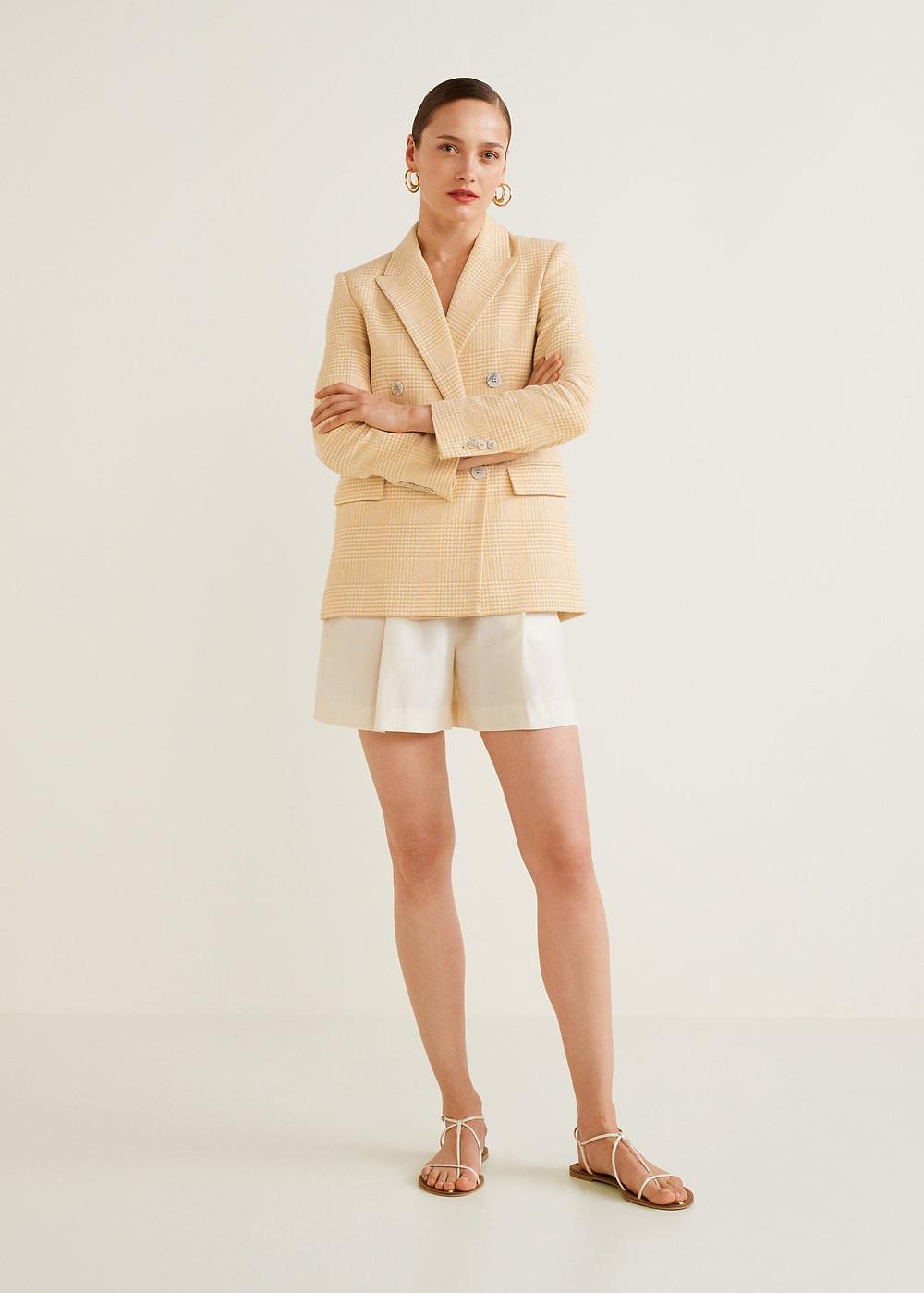 MANGO Check Structured blazer $129.99