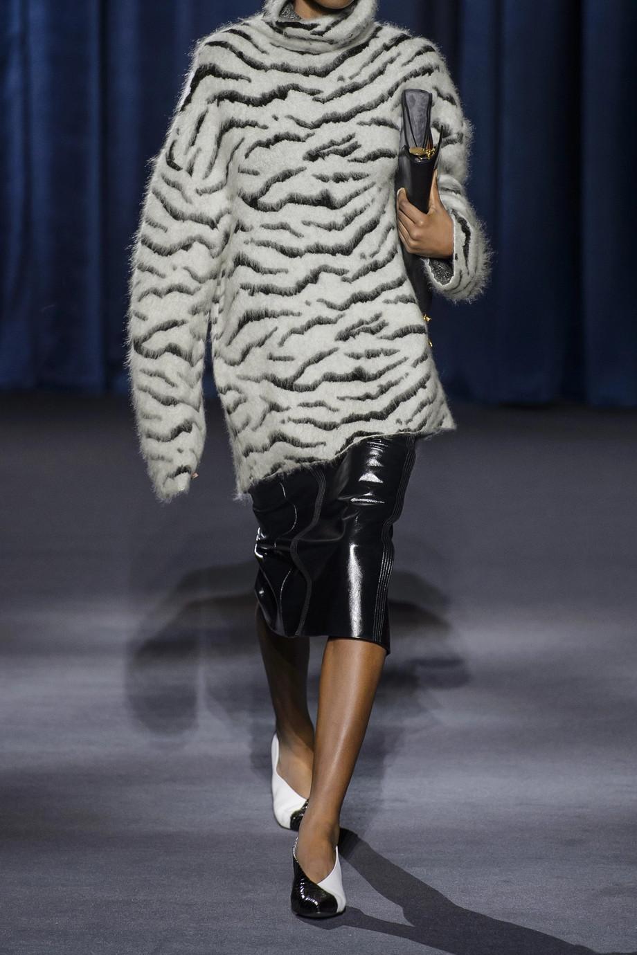Givenchy Zebra Print Oversized turtleneck mohair-blend jacquard sweater $1,860