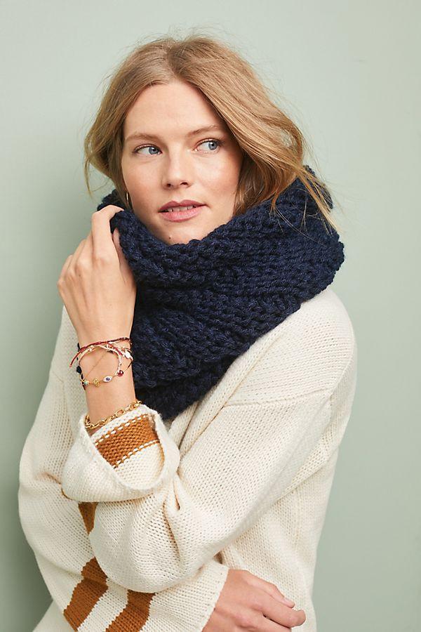 Alma Knitwear Niki Wool Infinity Scarf $125