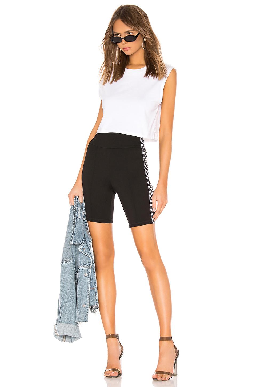 by the way Sia Checker Side Stripe Biker Short $62