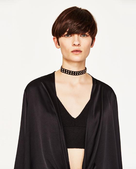 Zara Pack of Studded Chokers $19.90
