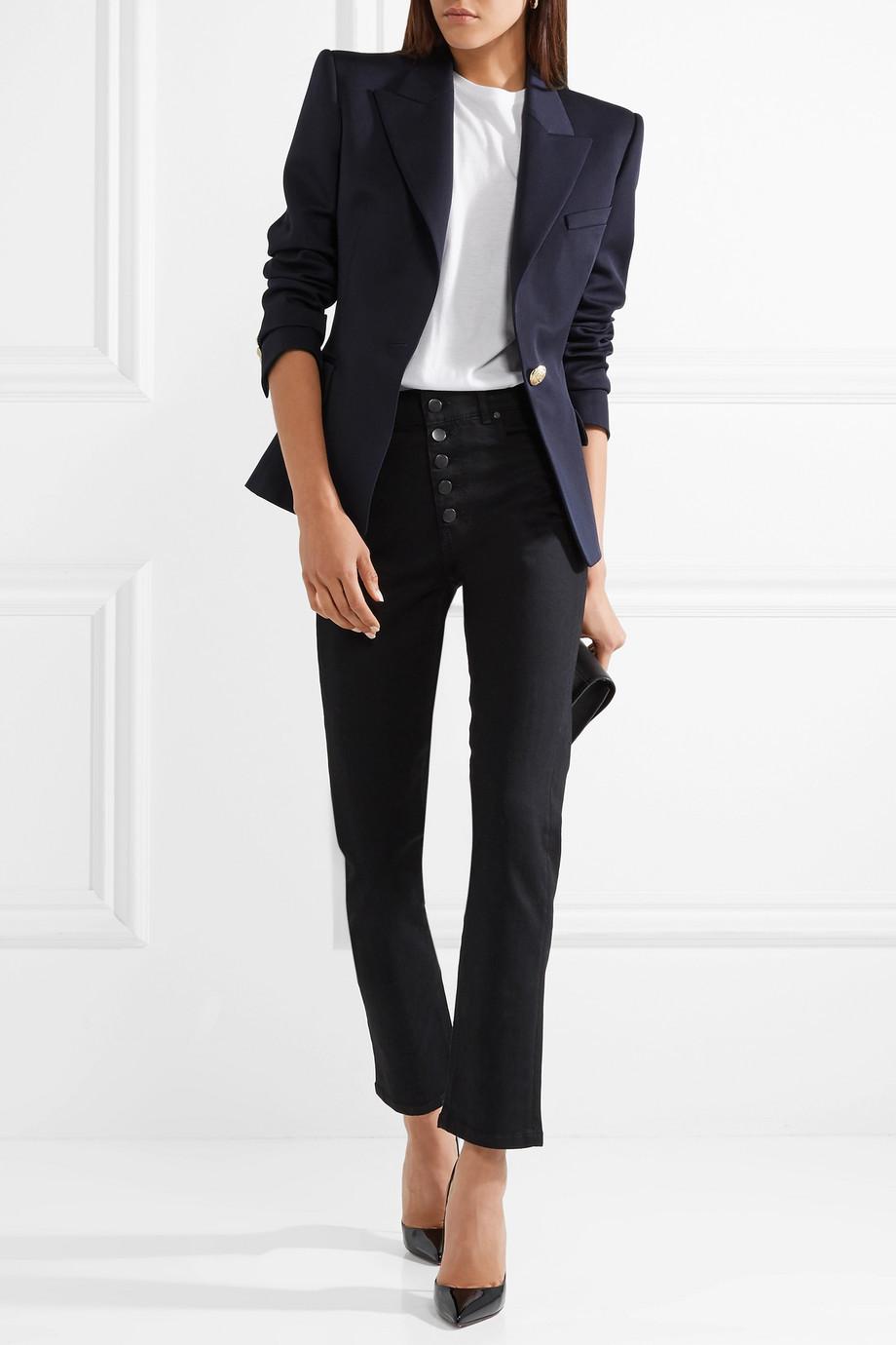 Balmain Wool-twill blazer with internal shoulder pads $2,095
