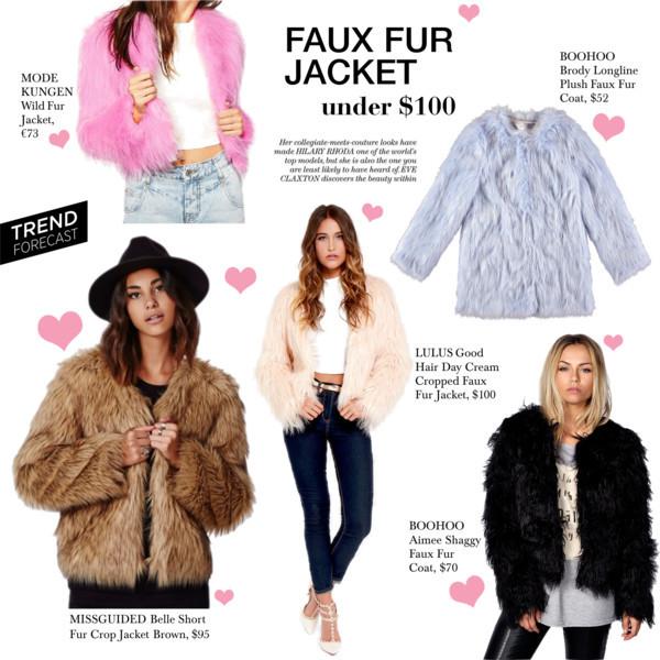 Faux Fur jackets under $100
