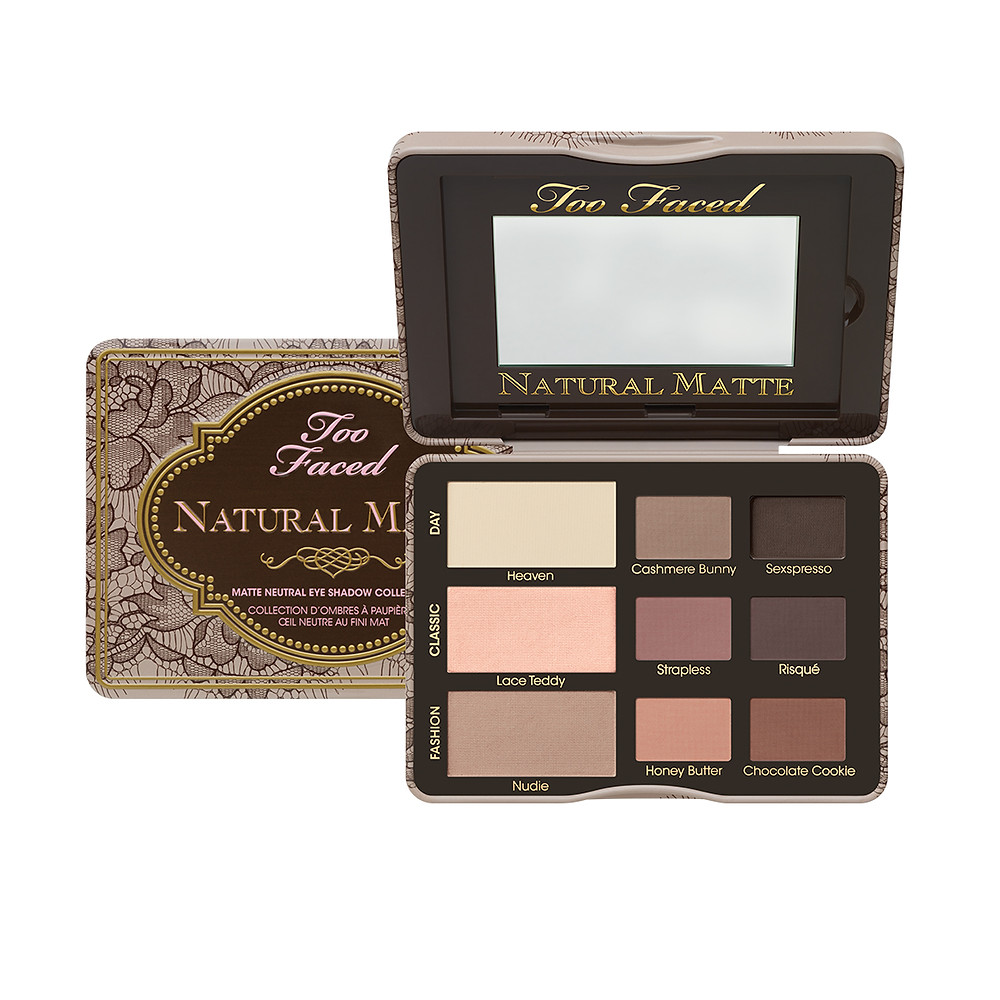 Too Faced-Natural Matte Neutral Eye Shadow Collection $36-for matte eye look