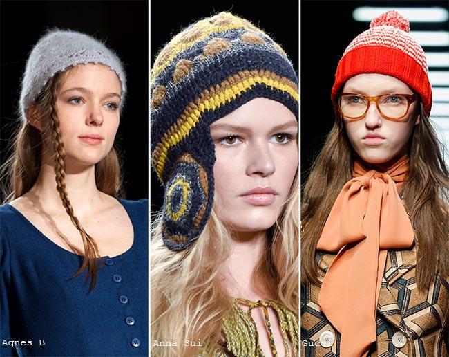 Designer hats from Agnes B; Anna Sui & Gucci