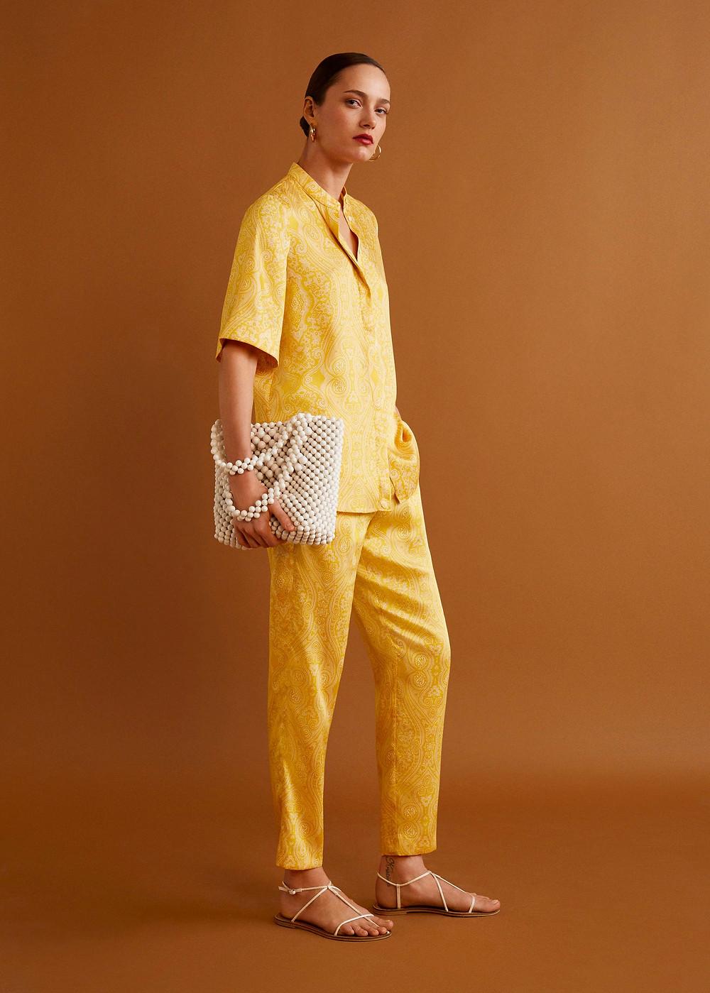 Mango Beaded shopper bag $99.99