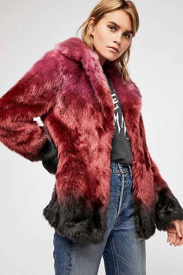 Unreal Fur Flaming Lips Coat $349