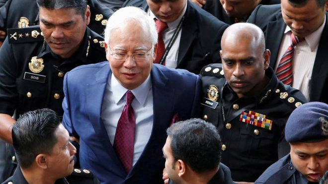 Malaysia ex-PM Najib charged with money laundering - Read More from BBC News
